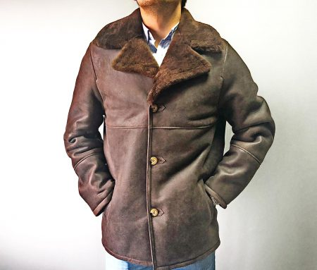 Chaquetón Doble Faz Brown Con Solapa